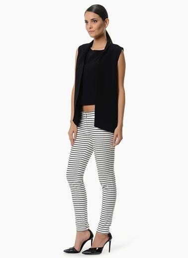 NetWork Çizgili Pantolon Beyaz